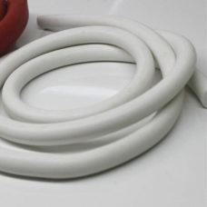 Factory food grade slicone rubber custom silicone foam cord strip white silicone foam seal strip round rubber o ring cord gasket