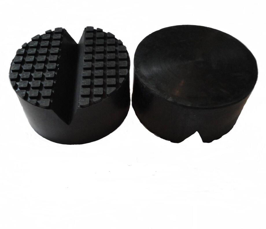 Rubber block pad for floor jack Rubber Jack pad diameter 100mm height 50mm V groove for car jack