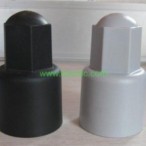 Black PVC plastic bolt cover factory direct PE PVC protective cap nuts cap nuts pp bolt cover