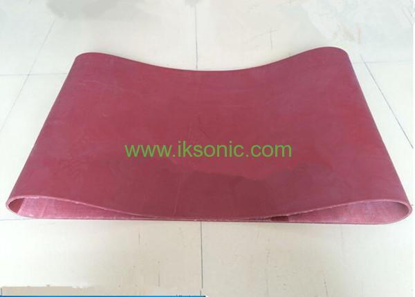 Heat Resistant Silicone Conveyor Belt Supplier red food grade belt conveyor belt manufactuer plastic bag machine