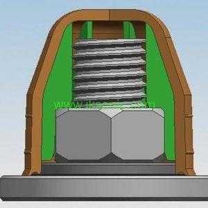 manufactuer factory Plastic screw bolt covers caps