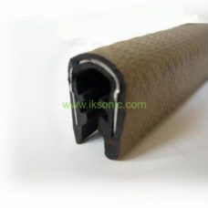 rubber seal strip steel core metal reinforced clamp metal edge sealing weather seal