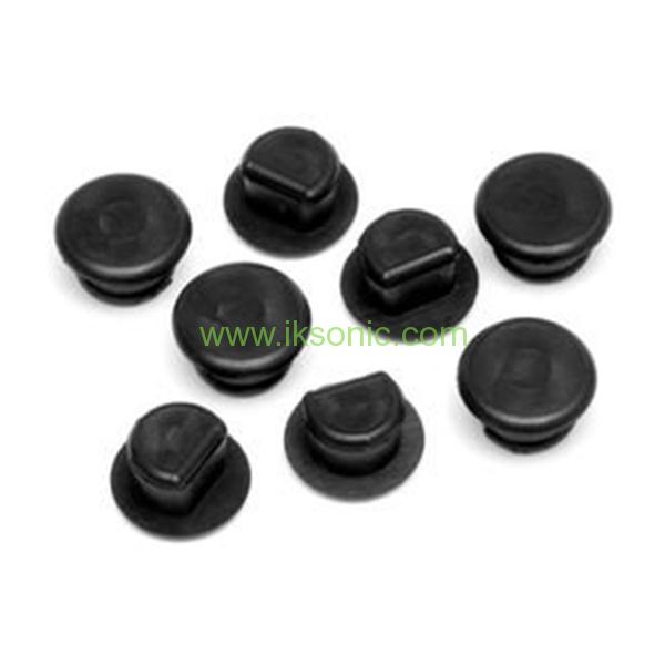 Black silicone rubber cone plug pipe end