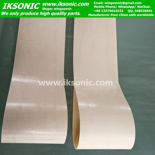 PTFE belt Kevlar mesh core high temperature belt iksonic